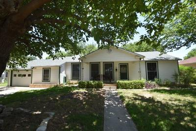 Stephenville TX Single Family Home Active Option Contract: $159,900