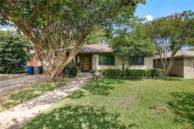 Dallas Single Family Home Active Option Contract: 6815 Trammel Drive