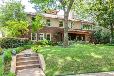 Dallas Single Family Home For Sale: 4316 Rawlins Street