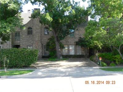 Highland Park, University Park Townhouse For Sale: 3422 Lovers Lane #A