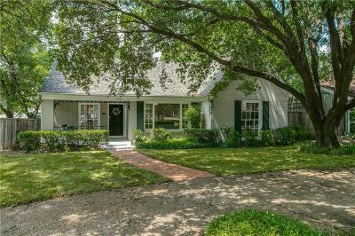 University Park Single Family Home For Sale: 3208 Lovers Lane