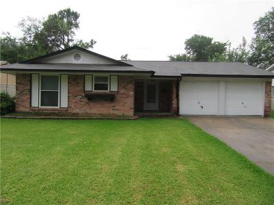 Mesquite Single Family Home Active Option Contract: 1313 Eastside Drive
