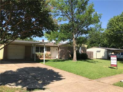 Mesquite Single Family Home Active Option Contract: 4818 Mistletoe Way