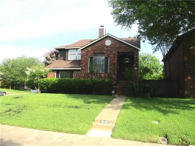 Mesquite Single Family Home Active Option Contract: 1845 Alameda Drive