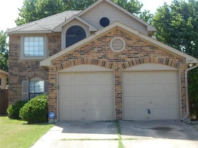 Lewisville Single Family Home For Sale: 1137 Seneca Place