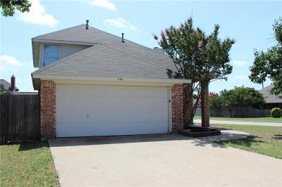 Keller Single Family Home For Sale: 241 Overleaf Drive