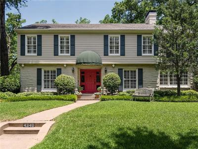 Highland Park Single Family Home For Sale: 4340 Westway Avenue