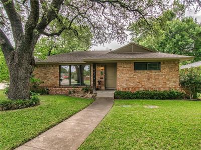 Dallas Single Family Home Active Option Contract: 9046 Lydgate Drive