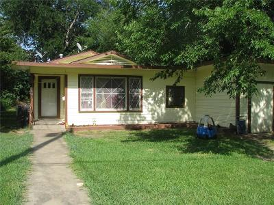 Single Family Home For Sale: 1407 S Travis Street