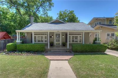 Fort Worth Single Family Home For Sale: 1809 Ashland Avenue