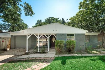 Mesquite Single Family Home Active Option Contract: 4716 Motley Drive
