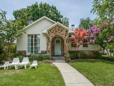 Dallas Single Family Home Active Option Contract: 7138 Westbrook Lane