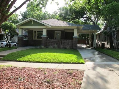 Fort Worth Single Family Home For Sale: 3209 Lipscomb Street