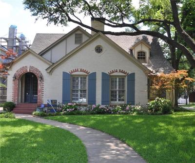 Dallas Single Family Home For Sale: 4137 Stanford Avenue