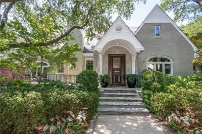 Highland Park Single Family Home For Sale: 4533 Belclaire Avenue