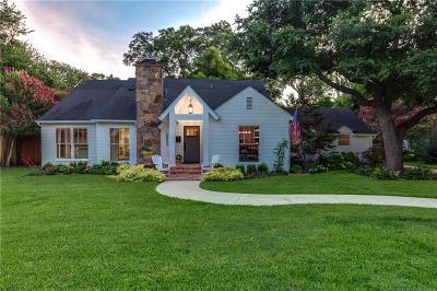 Dallas Single Family Home For Sale: 1533 El Campo Drive