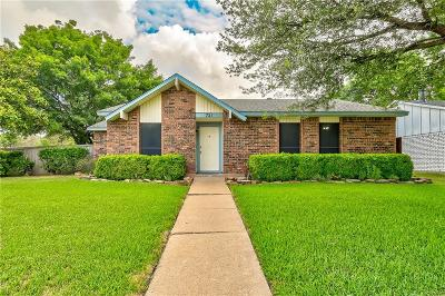 Plano TX Single Family Home Active Option Contract: $237,500