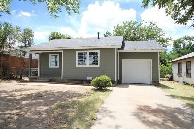 Fort Worth TX Single Family Home For Sale: $130,000
