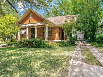 Fort Worth Single Family Home For Sale: 2561 Cockrell Avenue