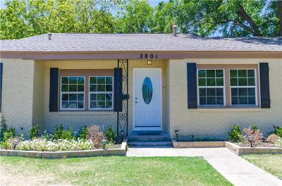 Fort Worth Single Family Home For Sale: 2801 W Biddison Street