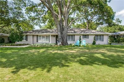 Dallas Single Family Home For Sale: 5839 Meadowcrest Drive