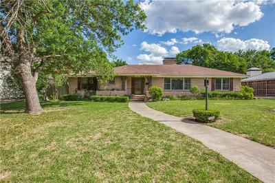 Dallas Single Family Home For Sale: 6606 Orchid Lane