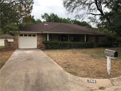 Springtown Single Family Home For Sale: 344 Huggins Drive