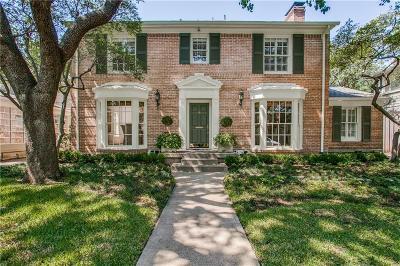 Highland Park Single Family Home For Sale: 4604 Fairfax Avenue