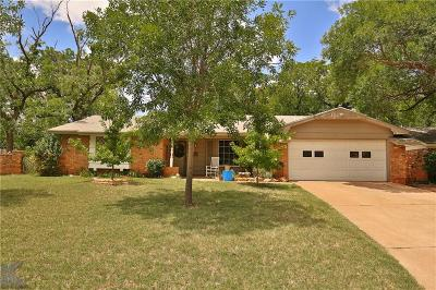 Abilene Single Family Home For Sale: 866 Westwood Drive