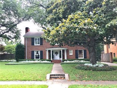 University Park Single Family Home For Sale: 3621 Centenary Avenue