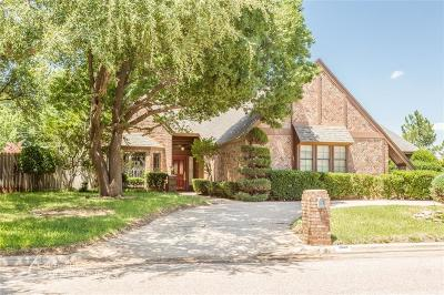 Abilene Single Family Home Active Option Contract: 2858 Piping Rock Drive