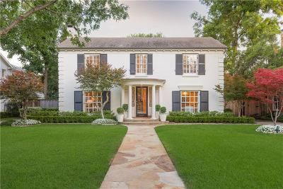 Dallas, Highland Park, University Park Single Family Home For Sale: 3521 Caruth Boulevard