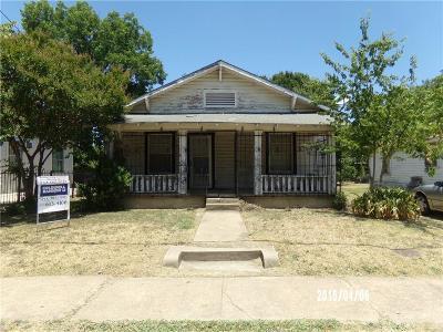 Dallas Single Family Home For Sale: 1819 Morris Street