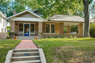 Dallas Single Family Home Active Option Contract: 5715 Palo Pinto Avenue