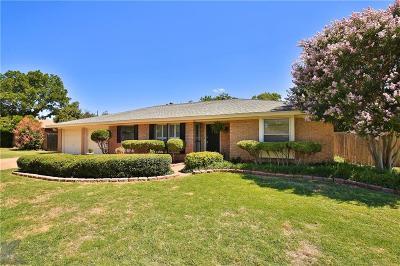 Abilene Single Family Home For Sale: 2610 Darrell Drive