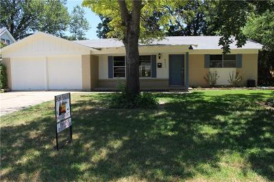 Fort Worth Single Family Home Active Option Contract: 6033 Wheaton Drive