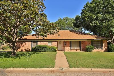 Abilene Single Family Home For Sale: 3118 Ventura Drive