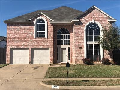 Euless Single Family Home For Sale: 220 Canterbury Street