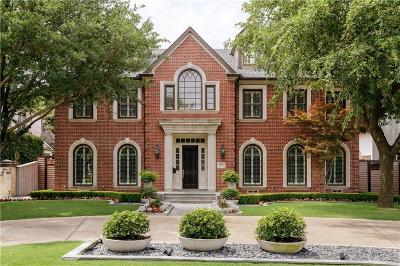 Dallas, Highland Park, University Park Single Family Home For Sale: 3809 Caruth Boulevard