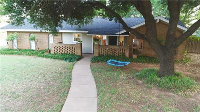 Abilene Single Family Home Active Option Contract: 2150 Brookhollow Drive