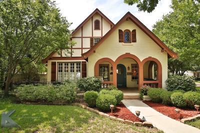 Abilene Single Family Home For Sale: 2141 S 8th Street