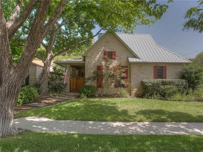 Fort Worth Single Family Home For Sale: 3400 Hamilton Avenue