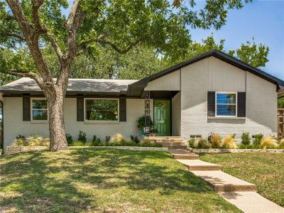 Dallas Single Family Home Active Option Contract: 8931 Stanwood Drive