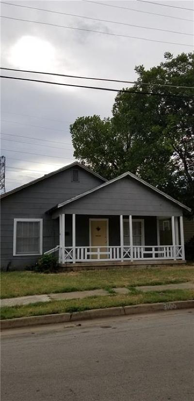 Fort Worth Single Family Home For Sale: 3100 Louise Street
