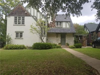 Fort Worth Single Family Home For Sale: 1915 Dartmoor Court