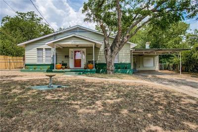 Fort Worth Single Family Home Active Option Contract: 2815 Halbert Street