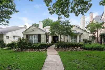 University Park Single Family Home Active Option Contract: 3316 Greenbrier Drive