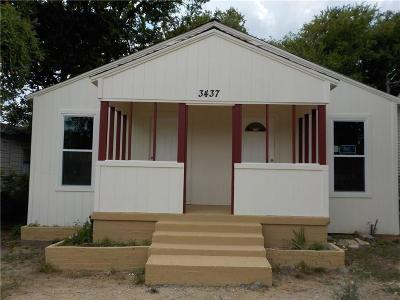 Dallas Single Family Home For Sale: 3437 Terrell Street