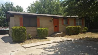 Fort Worth TX Single Family Home For Sale: $105,000