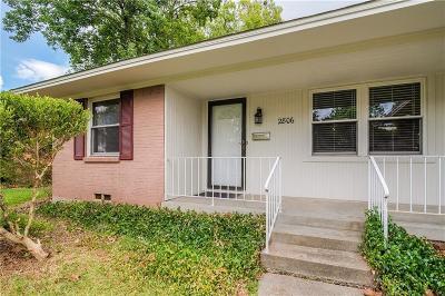 Dallas Single Family Home Active Option Contract: 2806 Marbella Lane